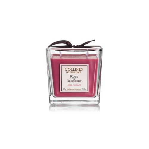 Bougie «Les accords parfumés»  Rose-rhubarbe 200 g - Collines de Provence